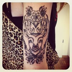 I really, really love this. Potential deer tattoo, with modification.