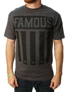 Famous Stars And Straps Men's Striper Graphic T-Shirt