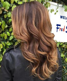 Caramel Brown Balayage Hair