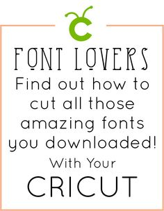 How to use downloaded fonts with a Cricut Explore