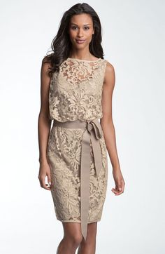 Lace Overlay Ribbon Dress - Lyst  Show this one to Sheri please.