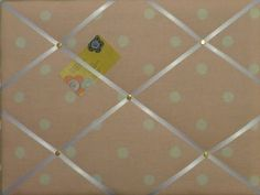 Medium Laura Ashley Pink Polka Dot Hand Crafted Fabric Notice / Pin / Memo Board