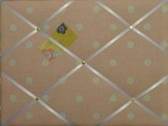 Medium Laura Ashley Pink Polka Dot Hand Crafted Fabric Notice / Pin / Memo Board