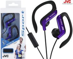 JVC Blue Ear-hook Headsets for sale online Bluetooth In Ear Headphones, Headphone With Mic, Remote, Iphone, Ebay, Exercise, Sports, Helmets, Ear