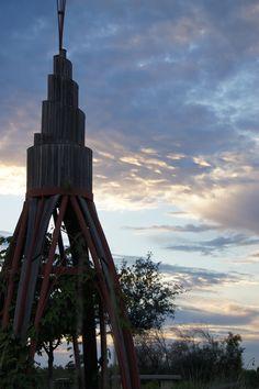 Sunset at the Rocket Ship