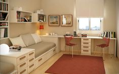 Ideas Design Bedroom For Teens Daughters Teen Bedroom, Home Bedroom, Kids Corner Desk, Student Bedroom, Ideas Dormitorios, Study Room Design, Boys Room Decor, Bedroom Designs, Room Decorations