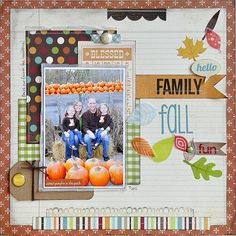 gorgeous layout using the Simple Stories Harvest Lane line!
