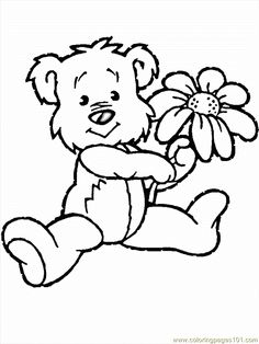 Flowers with Animals Coloring Page