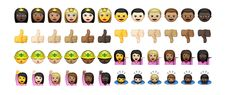 A look at iOS beta 2 has revealed over 300 new, more diverse emoji, including new skin tones and new flags. People increasingly use emoji to convey information, humor and themselves. Apple Emojis, New Emojis, Asian Meet, Black Emoji, Frowny Face, Racial Diversity, Change Hair Color, Emoji Characters, Just Amazing