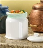 Leakproof, Odor-Free .9-Gallon White Ceramic Compost Crock