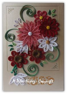 ❀ Crea Quilling ❀ : Quilled Floral Picture