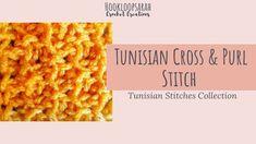 Tunisian Crochet, Learn To Crochet, Easy Crochet, Purl Stitch, Modern Crochet, Cardigan Pattern, Crochet Videos, Free Pattern, Crochet Patterns