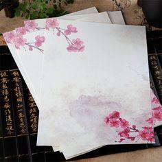 8 pcs/lot Vintage Chinese Style Envelope Paper Lovely Flower Letter Paper For Kids Korean Stationery Free Shipping 928