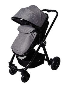 Suitable from birth, the Red Kite Push Me Fusion Travel System features lockable front swivel wheels and an easy to convert seat unit, providing a soft carry cot option for young babies. Supplied with matching group 0+ car seat for new born babies.