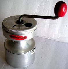 Vintage Metal French Coffee Grinder Made in France by QVintage, $60.00., for my daughter-law Tonya.