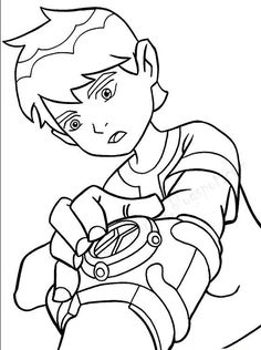 Ben 10 Online Coloring Pages Was A Normal Child Of Ten Years To The Day