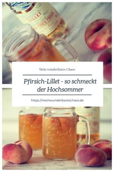 Peach Lillet - tastes like midsummer Summer Cocktails, Cocktail Drinks, Cocktail Recipes, Drink Party, Smoothie Recipes, Smoothies, Smoothie Bol, Drink Tags, Grilling Recipes