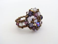Beaded Cabochon Ring   JewelryLessons.com