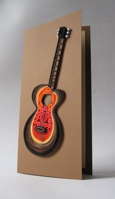 Quilled guitar card by Marina