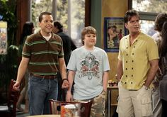 Two and a Half Men Two And Half Men, Half Man, Double Helix, Classic Tv, Screen Shot, Chef Jackets, Tv Shows, Men Casual, Mens Tops
