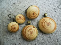Cedarwood pendant on antique bronze necklace by Tengriana on Etsy, Bronze, Stud Earrings, Antiques, Pendant, Trending Outfits, Wood, Unique Jewelry, Handmade Gifts, Etsy