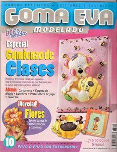 Manualidades en Goma eva para el inicio de clases - Revistas de manualidades Gratis