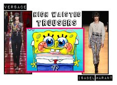 """""""Autumn/Winter 2015; High Waisted Trousers"""" by kimearls on Polyvore featuring Isabel Marant and Versace"""