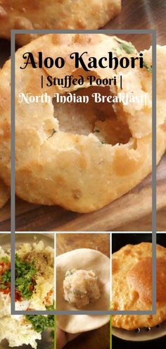 Aloo kachori is a popular dish in North India. It is made with whole wheat flour and stuffing mashed potatoes. Serve these as tea time snacks Lunch Box Recipes, Breakfast Recipes, Snack Recipes, Cooking Recipes, Puri Recipes, Paratha Recipes, Cooking Tips, Indian Snacks, Indian Food Recipes