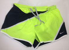 "Nike Running Dri-Fit Women's 3"" Running Shorts Black & Neon Yellow Sz. Small  #Nike #Shorts"