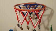 Display of basketball medals awarded // maybe something we could do for dunkfest?