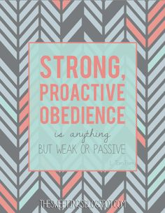 I love this. I feel this way about obedience, and anyone living something from…