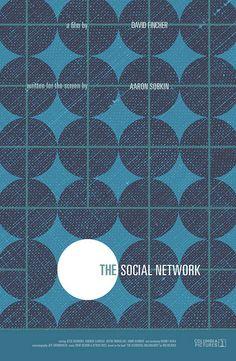 The Social Network (2010) ~ Minimal Movie Poster by Sam Smith #amusementphile