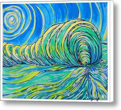 Surfart Canvas Print / Canvas Art By W Gilroy