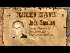 Jack Smalley is keynote for the 2013 Summit.