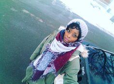 Hat + scarf + parka