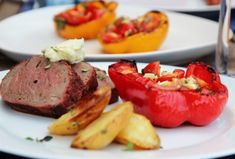 storfe | TRINES MATBLOGG Steak, Grilling, Food And Drink, Beef, Cookies, Red Peppers, Meat, Biscuits, Crickets