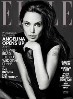 Angelina Jolie photographed by Hedi Slimane for Elle.