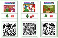 QR kaarten Kerst onderbouw #gratisdownload Qr Codes, Ipad Tablet, Xmas Crafts, Christmas Art, Art For Kids, Literacy, Bee, Coding, Apps