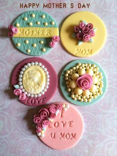 Mother's Day #cupcake #toppers, #edible