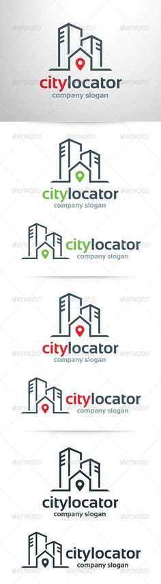 City Locator Logo Template (Buildings)