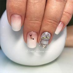Cat Nail Art, Funky Nail Art, Animal Nail Art, Cat Nails, Funky Nails, Animal Nail Designs, Toe Nail Designs, Nagel Gel, Accent Nails
