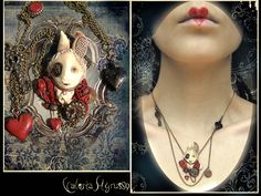Polish polymeric clay, akril. Second steampunk jewelry composition 4,3 sm This is NOT a STOCK, aha...