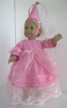 Mediaeval Princess doll dress fits American Girl 18 by dollthreads, $18.99