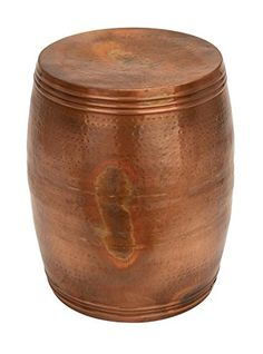 Copper Stool Barrel Shaped For Affordable Sitting Capacity Addition Brand  Woodland