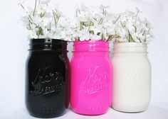Painted Mason Jars by TheCraftyEngineerx, $15.00