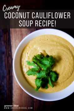 The hint of spice in this thick soup makes it the perfect meal during a spring cold, both soothing the throat and clearing out the nasal passages. Using coconut milk instead of cream not only adds a Southeast Asian flavor but also makes the traditional creamy soup lactose free. #Food #FoodRecipe #HealthyRecipe #Tasty #Yummy #FoodLover #Vegan #GlutenFree #VeganRecipe #VeganFood #vegan #plantbased #veganfood #vegetarian #healthyfood #VeganMeal #VeganSoup #CoconutRecipe #Cauliflower #SoupRecipe Easy Thanksgiving Dinner, Traditional Thanksgiving Recipes, Healthy Thanksgiving Recipes, Best Vegetarian Recipes, Fall Recipes, Delicious Recipes, Healthy Recipes, Recipe Inspiration, Recipe Ideas