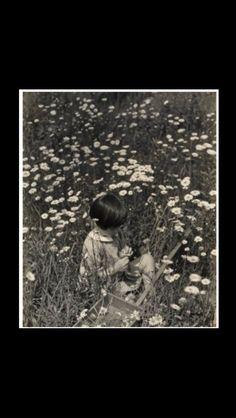 """Edward Steichen - """" Nell (Steichen's granddaughter) in a daisy field """", c. 1932 - Gelatin silver print  - 24,1 x 19,1 cm"""