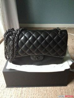"Chanel ""So Black"" Limited Edition Jumbo in Lambskin"