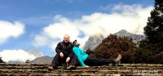 Karen and Steve taking a rest  as they trek #everest base camp with www.privateexpeditions.com/himalaya