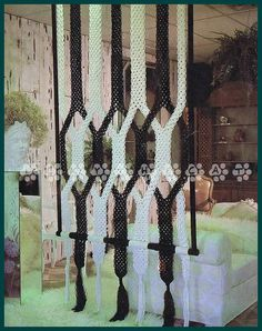 Vintage Macrame 1970's Pattern to make A Stunning Room Divider  Wall Hanging or Curtain by A PDF for Immediate Digital Delivery